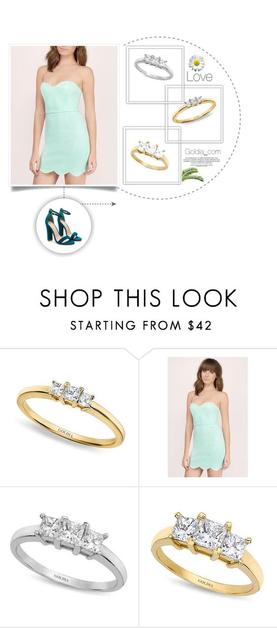 """Three Stone Rings"" by goldia on Polyvore featuring Tobi"