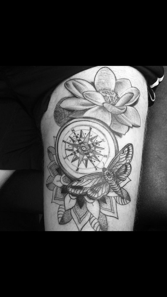 My thigh travel inspired thigh piece by Lee Malone