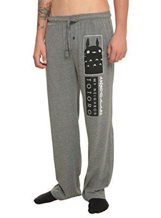 Amazon.com: Studio Ghibli My Neighbor Totoro Logo Guys Pajama Pants: Clothing