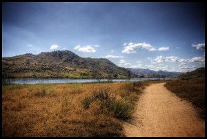 I want art of my favorite run around Lake Hodges for my house! Somebody needs to paint this picture for me! Its perfect.