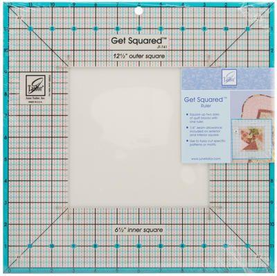Get Squared Ruler-12-1/2  Outer, 6-1/2  Inner