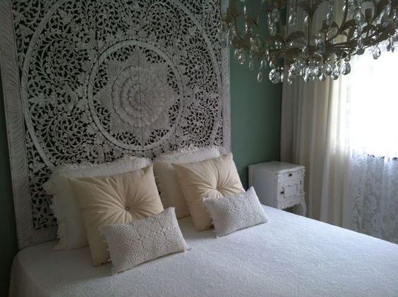 ... PURE Houtsnijwerk / Houten wandpanelen in slaapkamer  Pinterest
