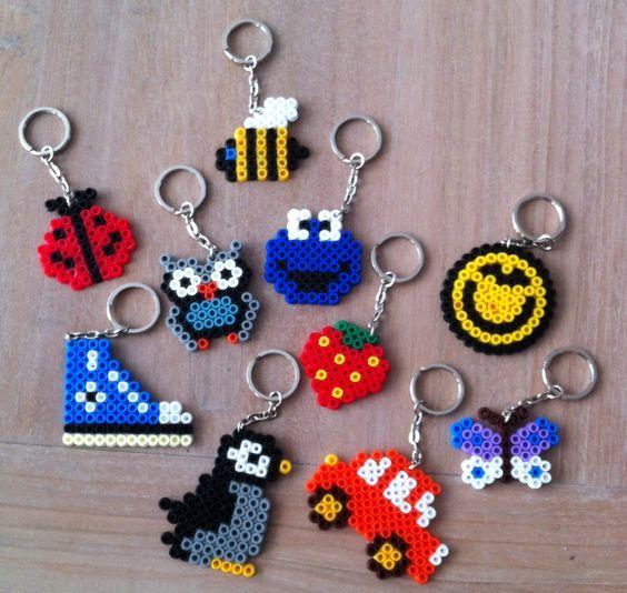 Hama beads keychains