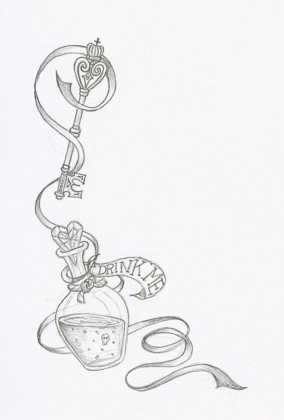 Alice In Wonderland tattoo idea