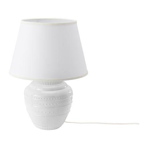Rickarum White Table Lamp 47 Cm Ikea Mobilier De Salon Lumiere Plafonnier