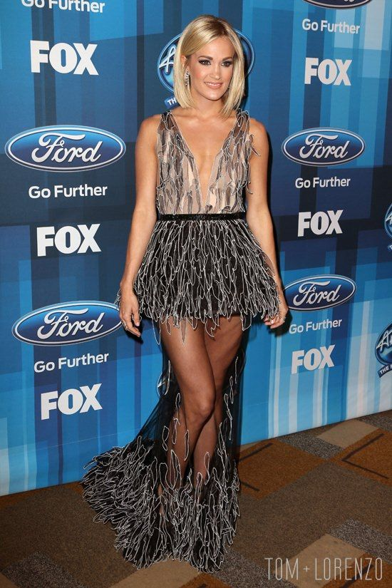 Carrie Underwood in Yanina Couture at the American Idol Finale #yaninacouture #carrieunderwood