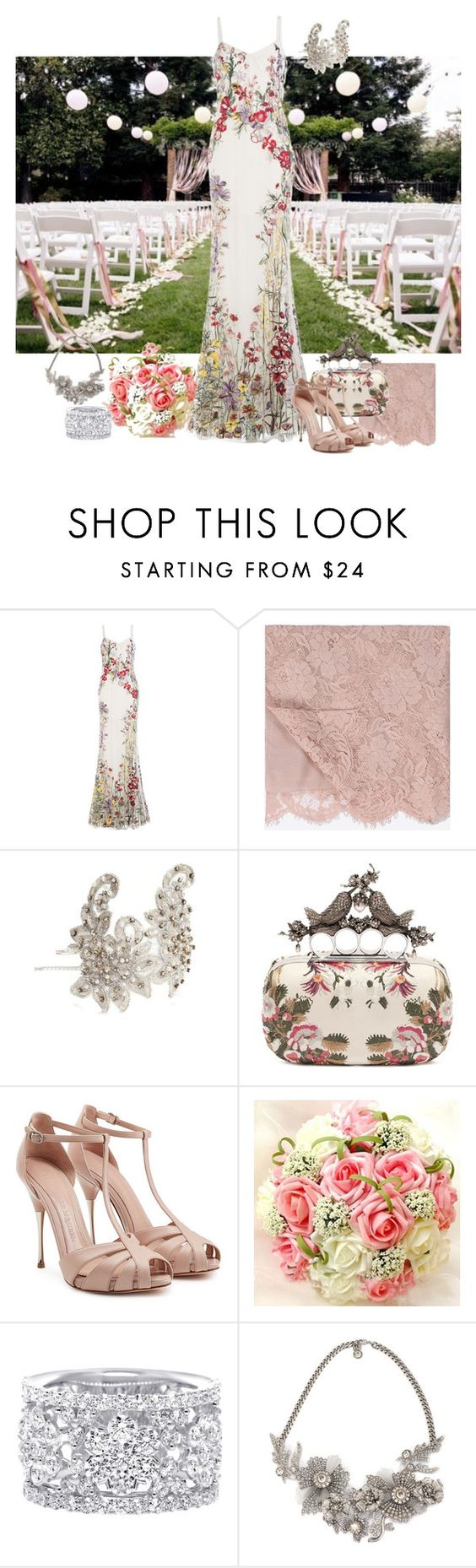 """""""Wedding"""" by eva-kouliaridou ❤ liked on Polyvore featuring Alexander McQueen, Valentino and Giovannio"""