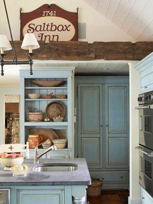 Antique blue kitchen