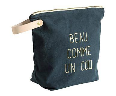 Trousse de toilette l BEAU COMME UN COQ coton, vert - 23*27