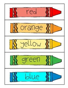FREEBIE- Word Wall Colors!   Free educational printables ...
