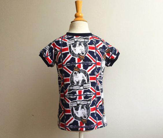 Londen Bulldog Jongens Shirt voor dreumes peuter en kleuter Zomer Tshirt