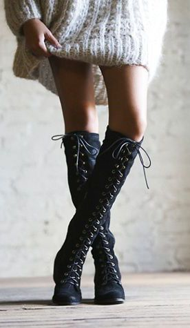 these lace up boots are perfect fall boots!