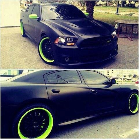 dodge charger black with lime rims and accents it 39 s like we were made for each other. Black Bedroom Furniture Sets. Home Design Ideas