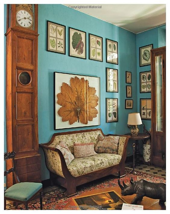 Oberto Gili book, Home Sweet Home: Sumptuous and Bohemian Interiors  Love the art and wall color.