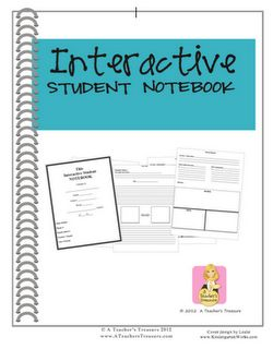 Interactive Student Notebook:  A unique resource that will change that way you teach & the way your students learn!