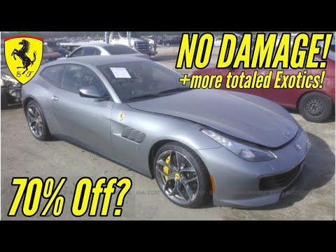 Iaa Cheapest Supercars At Salvage Auction Ft Flood Damaged Ferrari And Wrecked Nissan Gtr Youtube Nissan Gtr Gtr Nissan