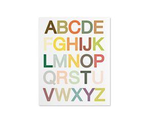 Kunstdruck Alphabet, 28 x 36 cm