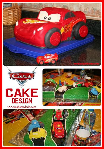 Fun Cake Designs: Cars Cake Decorating Ideas #birthdaycake #cakedesigns