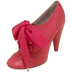 Mulberry Oxford Booties w/Ribbon Tie Accent