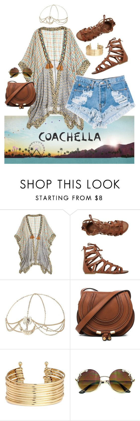 """""""Untitled #8"""" by christina-sherwood29 on Polyvore featuring Stéphanie Vaillé, Levi's, O'Neill, Topshop, Chloé and H&M"""