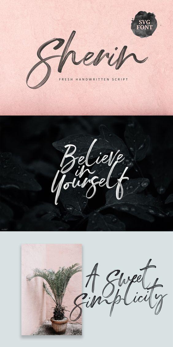 Sherin Svg Font In 2020 Fonts Design Script Fonts Design Lettering Fonts