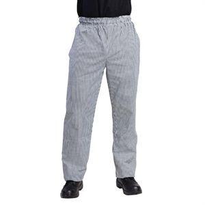 Pantalón de cocina unisex cuadros blanco/negro Vegas Whites