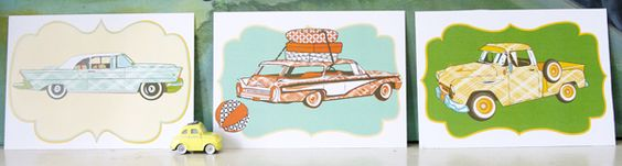 Vintage car downloads on the handmade home - lots of free printables