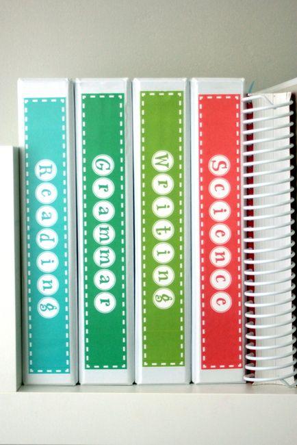 "FREE school binder spine labels 1.5"""