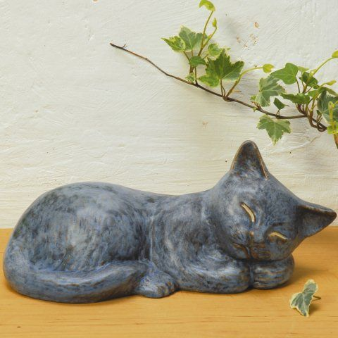 Katzenfigur Dekoskulptur Tierfigur Aus Keramik Katzen Design Tiere Katzen