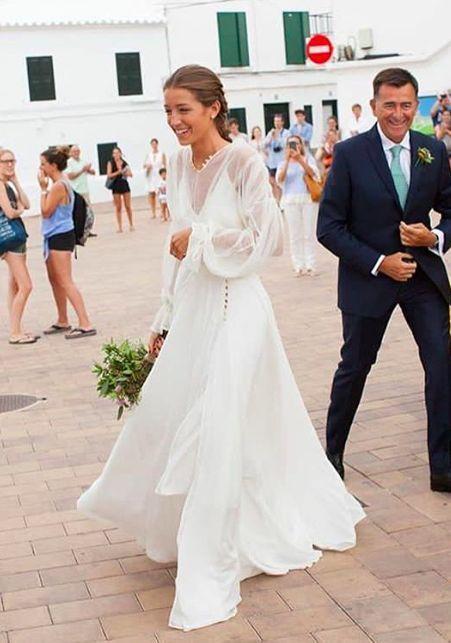 Billowy Sleeves In 2020 Sleeved Wedding Bride Long Sleeve Wedding
