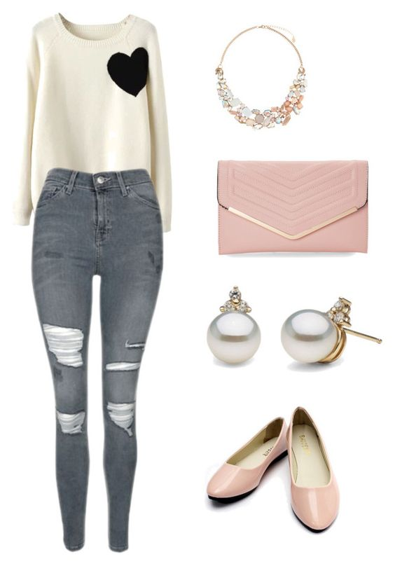 """SWEETNESS"" by lovelymayra on Polyvore featuring WithChic, Topshop, Accessorize and Sasha"
