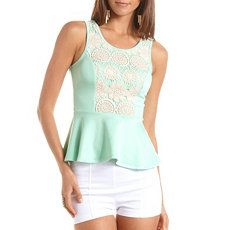 White and mint green