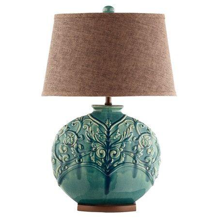 Beautiful Blue Lamp/Hate the shade!