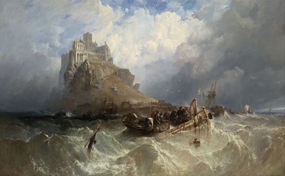 Clarkson Frederick Stanfield - Mount St Michael Cornwall (1830) [5234  3240]