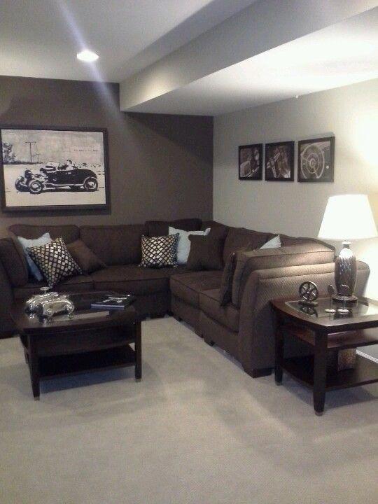 Astounding Home Renovation Ideas Interior And Exterior Ideas Basement Colors Brown Living Room Decor Brown Living Room