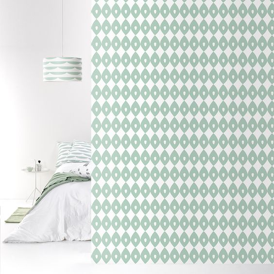 Roomblush behang wallpaper blossom green behangpapier woonkamer ...