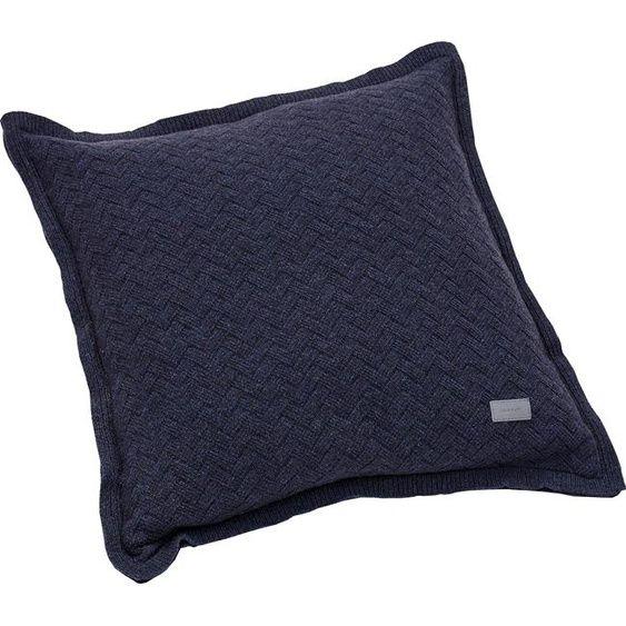 Gant Kissenhulle Fishbone 50x50 Cm Blau In 2020 Blau