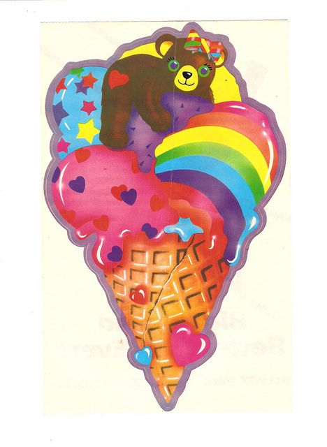 Lisa Frank Ice Cream Sticker: