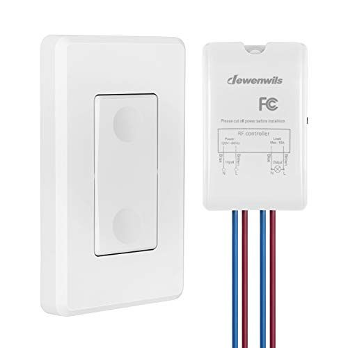 Dewenwils Wireless Light Switch And Receiver Kit Wall Switch Remote Control Lighting Fixture For Ceili In 2020 Wireless Light Switch Light Switch Remote Control Light