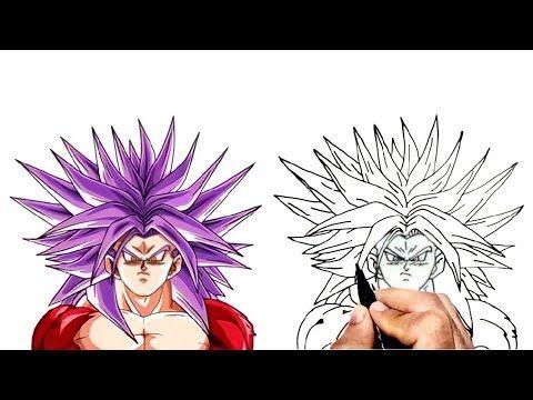 How To Draw Goku Ssj4 Dragon Ball كيف ترسم غوكو سوبر ساين 4 خطوة بخطوة للمبتدئين Youtube In 2021 Easy Drawings Drawings Drawing Tutorial