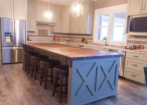 Farmhouse Chic Sleek Walnut Butcher Block Countertop Barn Wood Alluring Unique Kitchen Countertops Decorating Design