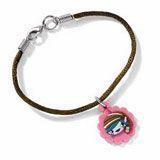 Brownie Elf Bracelet. Flower shape Brownie elf charm on adjustable satin cord. PVC charm. $8 #girlscoutswag