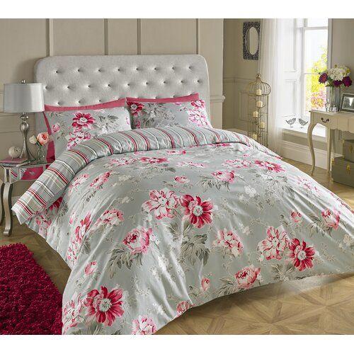 Lyon Floral Duvet Cover Set Brambly Cottage Size Super King 2 Pillowcases Colour Light Grey Duvet Cover Sets Bed Duvet Covers Cool Beds