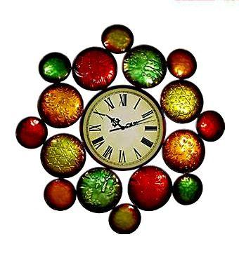 Metal Art Coloured Clock