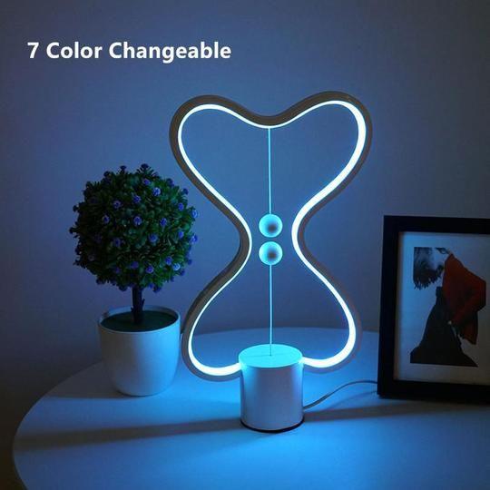 Heart Balance 3d Night Light Lamp In 2020 Led Night Lamp 3d Night Light Night Light Lamp