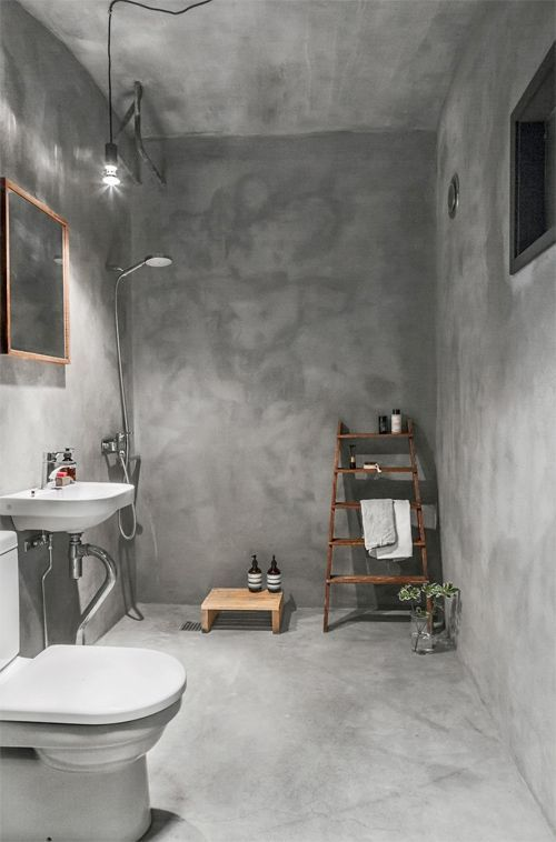 ป กพ นในบอร ด Badezimmer Im Betonlook