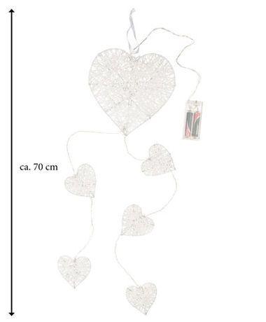 LED Weihnachtsbeleuchtung - Rattan-Herzen - ca. 70 cm günstig