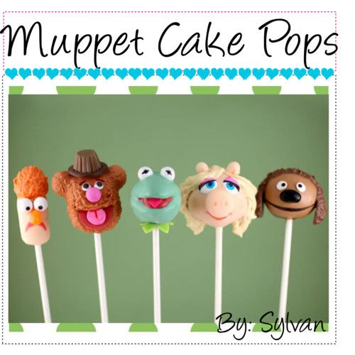 Muppet cake pops! I wanna make these so bad!! :)
