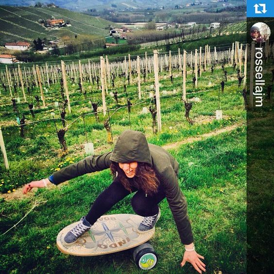 Remember to take a break from your office chair and hop on your #IndoBoard somewhere outside at a charming vineyard in Italy.  Georgette #Repost #fun #cute #IndoBoardGirl @rossellajm Rossella knows the love. ・・・Tra le colline#delleLanghe