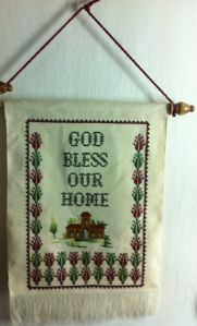 God bless our home wall hanging. Size 43*29.Price $38